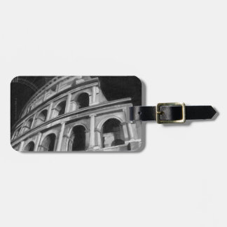 Roman Colosseum with Architectural Drawings Luggage Tag