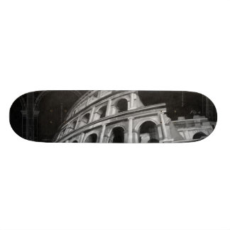 Roman Colosseum with Architectural Drawings Skate Boards