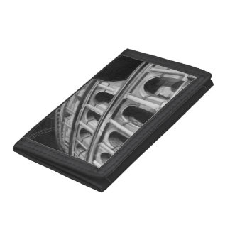 Roman Colosseum with Architectural Drawings Tri-fold Wallets