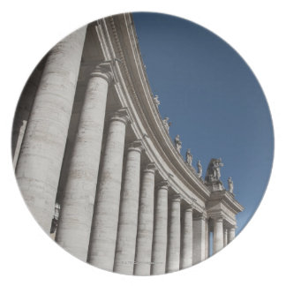Roman columns plate