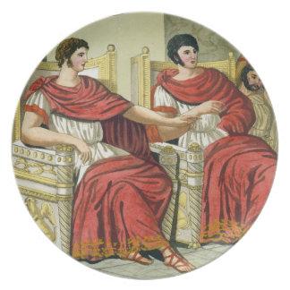 Roman Consuls, from 'L'Antica Roma', 1825 (colour Plates