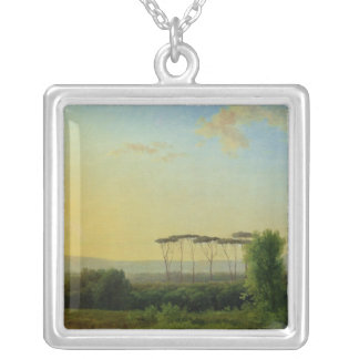 Roman Countryside Silver Plated Necklace