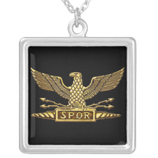 Roman Eagle Gold Silver Plated Necklace