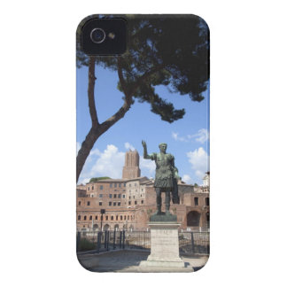Roman emperor bronze statue at forum iPhone 4 case