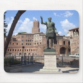 Roman emperor bronze statue at forum mouse mat