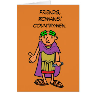 Roman Emperor Happy Birthday Greetings Card