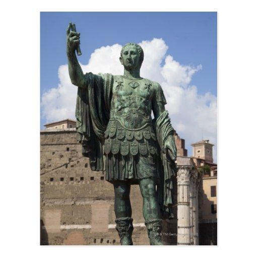 Roman Emperor statue Postcard