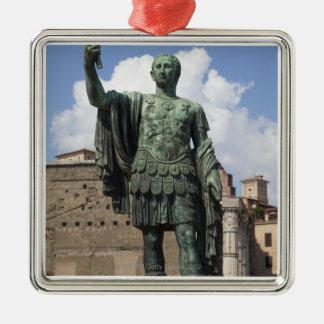 Roman Emperor statue Silver-Colored Square Decoration