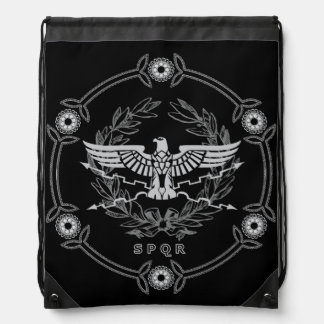 Roman Empire Emblem Drawstring Bag