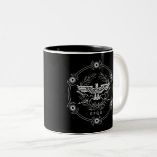 Roman Empire - SPQR Mug. Two-Tone Coffee Mug