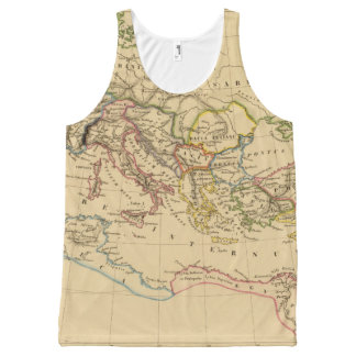 Roman Empire under Constantine and Trajan All-Over Print Tank Top