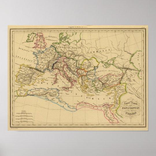 Roman Empire under Constantine and Trajan Poster