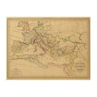 Roman Empire under Constantine and Trajan Wood Print