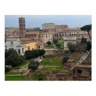 Roman Forum and Colosseum Postcard