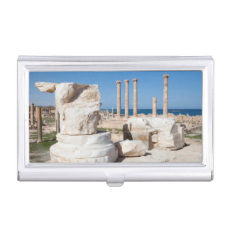 Roman Forum And Remains Of Statue, Sabratha, AZ Business Card Holder