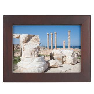 Roman Forum And Remains Of Statue, Sabratha, AZ Keepsake Boxes