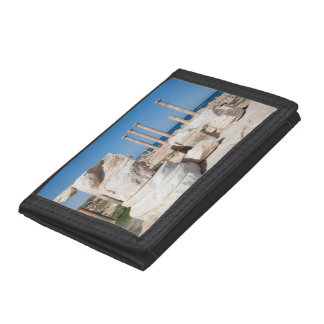 Roman Forum And Remains Of Statue, Sabratha, AZ Trifold Wallet