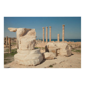 Roman Forum And Remains Of Statue, Sabratha, AZ Wood Wall Art