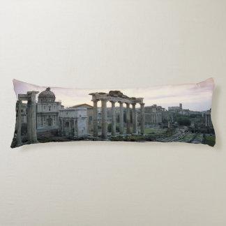 Roman Forum at dawn Body Cushion
