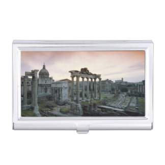 Roman Forum at dawn Business Card Holder