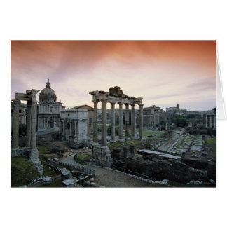 Roman Forum at dawn Card
