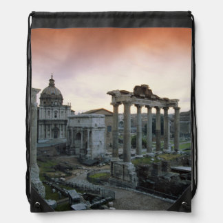Roman Forum at dawn Drawstring Bags