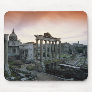 Roman Forum at dawn Mouse Mat
