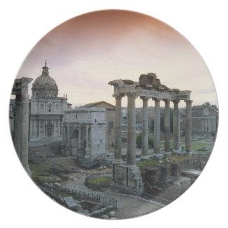 Roman Forum at dawn Plate
