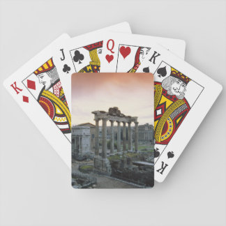 Roman Forum at dawn Playing Cards