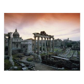 Roman Forum at dawn Postcard