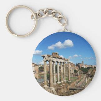 Roman Forum Basic Round Button Key Ring