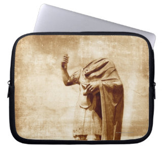 roman forum, headless statue of roman leader laptop sleeve