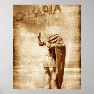 roman forum, headless statue of roman leader poster