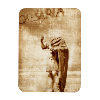 roman forum, headless statue of roman leader rectangular photo magnet