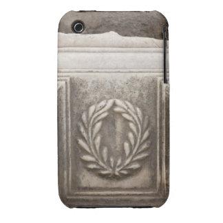 roman forum, laurel design on marble stone block iPhone 3 Case-Mate cases
