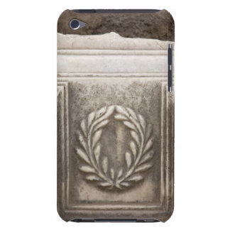 roman forum, laurel design on marble stone block iPod touch Case-Mate case