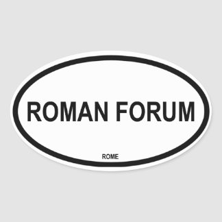 ROMAN FORUM OVAL STICKER