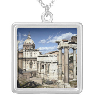 Roman Forum, Rome, Italy Silver Plated Necklace