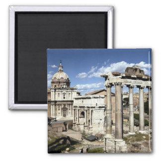 Roman Forum, Rome, Italy Square Magnet