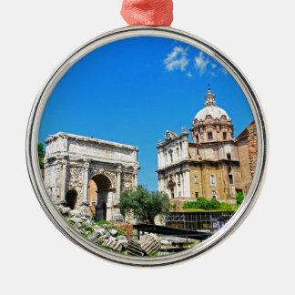 Roman forum Silver-Colored round decoration