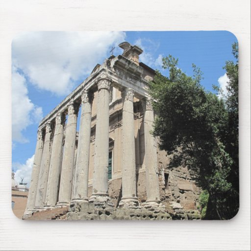 Roman Forum - Temple of Antoninus Mouse Pad