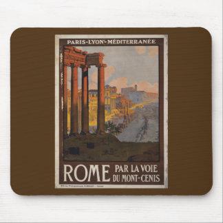Roman Forum Vintage Travel Advertisement Mouse Pad