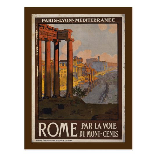 Roman Forum Vintage Travel Advertisement Postcard