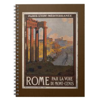 Roman Forum Vintage Travel Advertisement Spiral Notebook