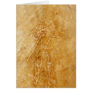 Roman Gladiator Graffiti Note Card