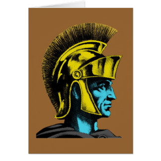 Roman Gladiator Pop Art Portrait Card