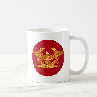 Roman Golden Eagle on Red Coffee Mug