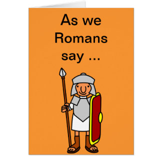 Roman Happy Birthday Greetings Card