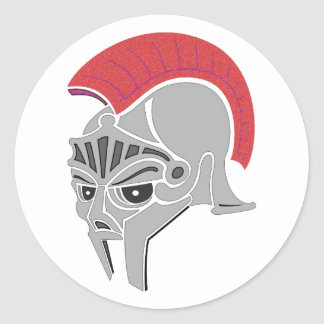 Roman helmet novel helmet round sticker