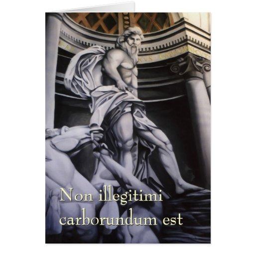 Roman Hero blank notelet / card